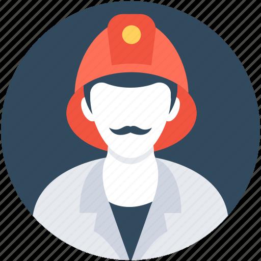 firefighter, fireman, professional, rescue, rescuer icon