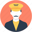 cab driver, cabbie, cabby, driver, taxi driver icon