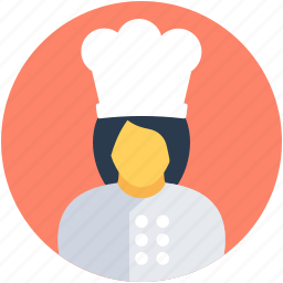 cooker, cuisiner, culinary, female chef, woman chef icon