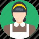 housekeeper, lady, maid, servant, woman icon