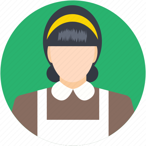 housekeeper, lady, maid, servant, woman icon