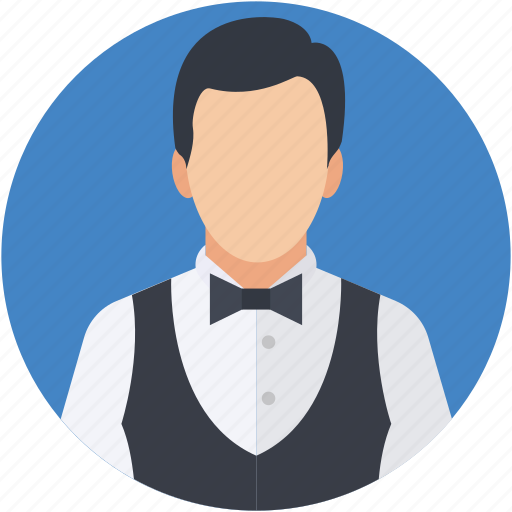 butler, chauffeur, restaurant servant, waiter, young boy icon