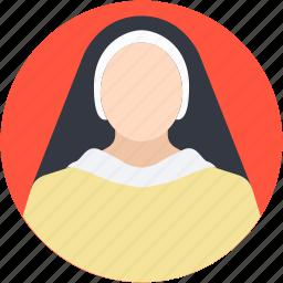 lady, maid, nanny, servant, woman icon