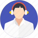 call center agent, customer representative, customer service, customer support, helpline icon