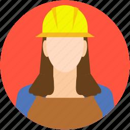 architect, avatar, female architect, female engineer, worker icon