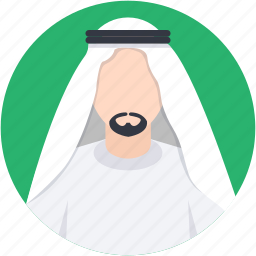arab man, arabian, kandura, man, muslim icon