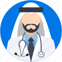 arab, arabian, arabic doctor, doctor, muslim icon
