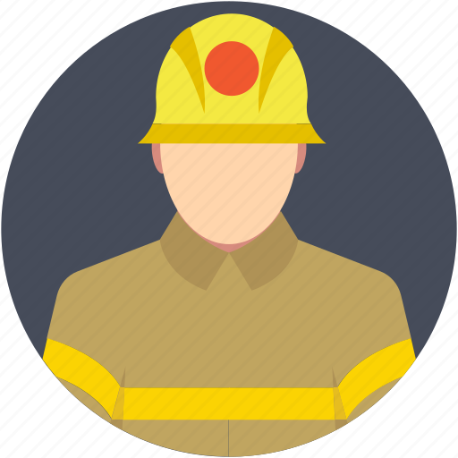 firefighter, fireman, professional, rescue, rescuer icon