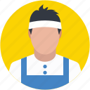 badminton player, player avatar, sport man, squash player, tennis player icon
