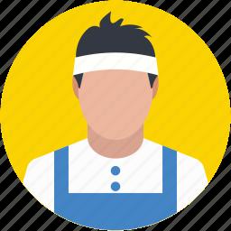 badminton player, player avatar, sport man, squash player, tennis player icon