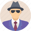 detective, investigator, secret agent, security agent, spy icon