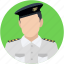 captain, pilot, sergeant, traffic sergeant, traffic warden icon