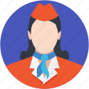air hostess, flight attendant, hostess, steward, stewardess icon
