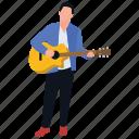 guitar man, guitarist, music composer, music man, musician icon