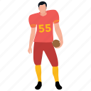 football game, football player, physical game, player, team player icon