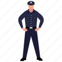peace officer, police constable, police counsellor, police officer, policeman icon