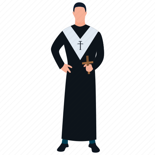 Christian father, church father, monk, pastor, priest icon - Download on Iconfinder