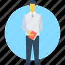 butler, hotel manager, manager, order taker, restaurant servant icon
