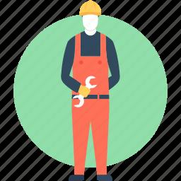 mechanic, plumber, plunger, repair, worker icon