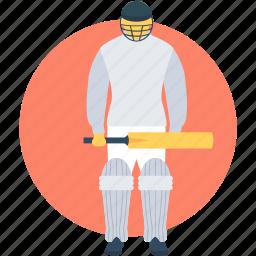 batsman, batting, cricket, cricket batsman, cricket game icon