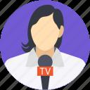 female reporter, journalist, news reporter, people, woman journalist