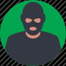 burglar, criminal, detective, hijacker, mugger icon