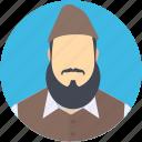 beard, muslim avatar, muslim scholar, qari, ulema icon