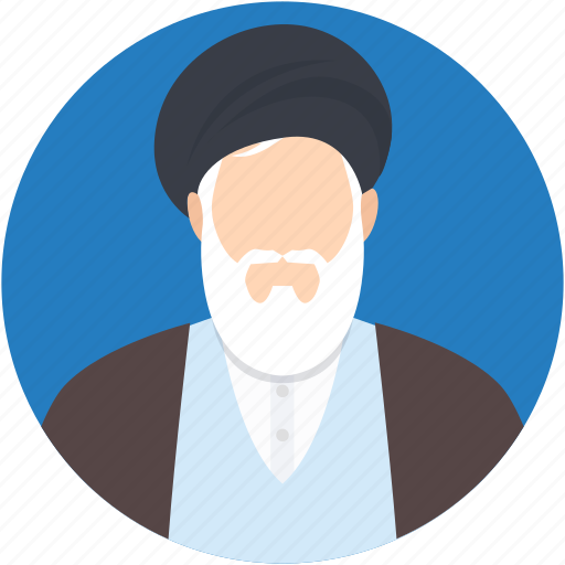 mollah, muslim scholar, religious man, scholar, ulema icon