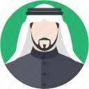 arab man, arabian, arabic, kandura, muslim icon