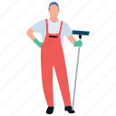 cleaning services, house cleaning, housekeeping, man cleaning, mopping man icon