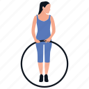 physical exercise, athletics, workout, gymnastic, ring game icon