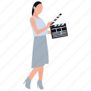 film editing, film industry, film production, video maker, video production icon