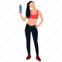 body fitness, female trainer, fitness trainer, gym trainer, health trainer icon