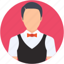 butler, chauffeur, restaurant servant, waiter, young boy icon