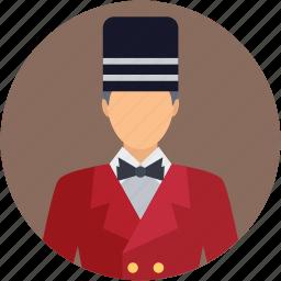 bellboy, bellhop, chef, cook, hotel staff icon