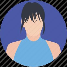 female player, player, player avatar, sport girl, sports champion icon