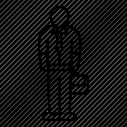 body, briefcase, businessman, clerk, profession, tie, worker icon