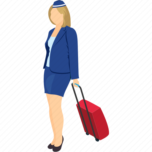bag, female, passenger, person with bag, tourist, traveler icon