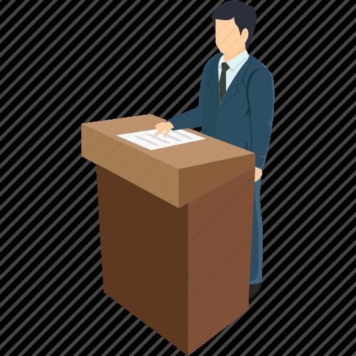 businessman, communication, conference, presentation, public speaker, teacher icon