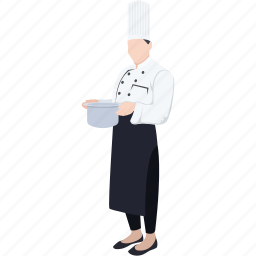 cook, culinary, female chef, occupation, profession, restaurant, woman chef icon
