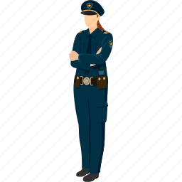captain, female police, female sergeant, police, police officer, sergeant icon