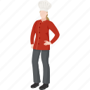 cooker, cuisiner, culinary, female chef, profession, restaurant, woman chef icon