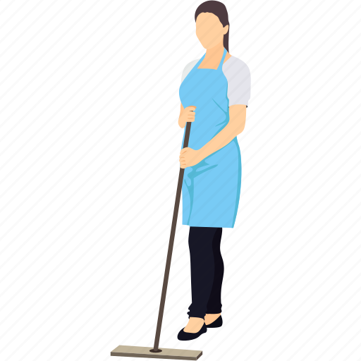 cleaner maid, cleaning woman, janitor, lady, maid, sweeper, woman icon