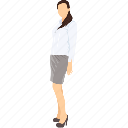 assistant, employee, female, lady secretary, miss, personal assistant, secretary icon