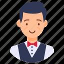 attendant, servant, steward, waiter, waitperson icon