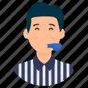 arbiter, arbitrator, conciliator, referee, umpire