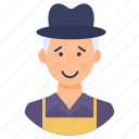 countryman, farmer, gardener, horticulturist, landscaper icon