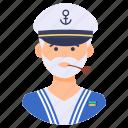 attendant, captain, hostess, mariner, sailor, ship man, yatchman icon