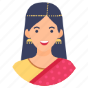 faminini, human, indian female, indian woman, youngster icon