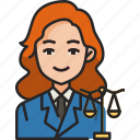 lawyer, law, judge, justice, legal, avatar, woman